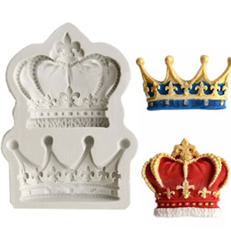 Wholesale Resin Cupcakes - Crowns from Princess Queen 3D Silicone Mold Fondant Cake Cupcake Decorating Tools Clay Resin Candy Fimo Super Sculpey