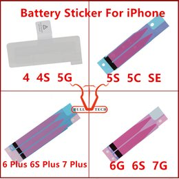 Wholesale Stickers For Iphone Wholesale - Battery Adhesive Glue Tape Strip Sticker Replacement Parts For iPhone 4 4s 5 5s 5c 6 6plus 6s 6S Plus 7 7 PLUS