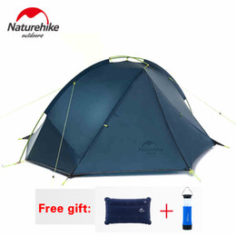 Wholesale Tent Person Layer - Wholesale- NatureHike Tent 4 seasons Outdoor Portable Double-layer Camping Tents For 1-2 Person Lightweight Waterproof PU 4000mm Hiking