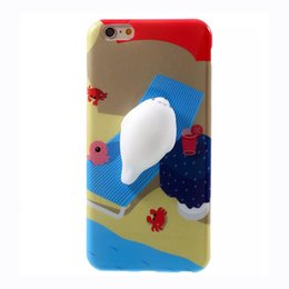 Wholesale 3d animals phone covers - Phone Case for iPhone 6 6S 6 plus 3D Cute Soft Silicone Squishy Animal Fundas for iPhone 7 7 plus Cover Animal Sleeping