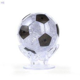 Wholesale 3d Crystal Jigsaw Puzzles - Wholesale- Children Teenager Crystal Football Puzzle 3D DIY Jigsaw Toy Educational Learning Game Toy Gift
