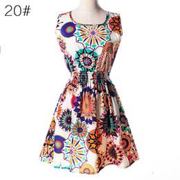Wholesale Chiffon Dresses Low Price - Summer Women Dress Vestidos Print Casual Low Price China Clothes Femininas Roupas Office Ladies Female Bohemian Mini Beach Dress