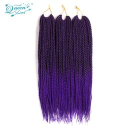 Wholesale Kanekalon Curly - Hot Sale Sex Synthetic Hair Extension 1Bundles Crochet Braids Hair Extensions Senegalese Twist Ombre Hair Kanekalon Jumbo Braiding