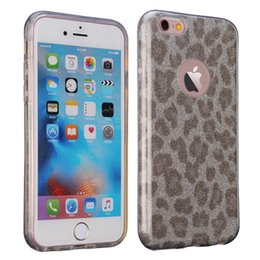 Wholesale Luxury Bling Leopard Case - Luxury Leopard Camouflage Glitter Case For ZTE ZMAX PRO Huawei P8 P9 Lite iPhone 6 Plus, Bling Glitter Phone Protective Cover Cases, SBR-45
