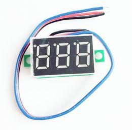 Wholesale voltmeter wires - DC 0.36 inch 0-200V 3 wires 3 bits Red Digital Voltage Panel Meter Voltmeter tester for Electromobile Motorcycle car