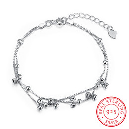 Wholesale Bow Box Designs - 100% Real Silver Bracelet Bow Knot Design Bracelet Sporty Style 925 Sterling Silver Brand Fashion Jewelry Accessories Gift for Lady Girls
