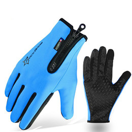 Wholesale Thermal Cycle Gloves - Winter Gloves Fleece Thermal Warm Bike Sport Gloves Motorcycle Cycling Bicycle Equipment Gloves Full Finger Phone Glove