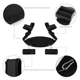 Wholesale Black Leather Tape - Technical Sports Bondage Restraints Tetris Extra-Strength Strap with Nylon, lightweight and sturdy leather Bondage Set (Black)