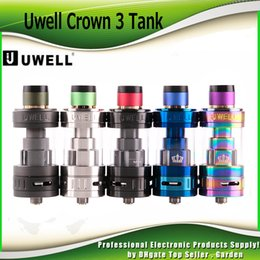 Wholesale Tank Top Large - Original Uwell Crown 3 Tank with 5.0ml e-Juice Capacity with Top Filling Large Clouds Crown III Coil Head 100% Genuine 2231010