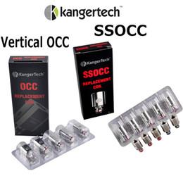 Auténtico Kangertech Bobinas verticales OCC 0.5ohm 1.2ohm 1.5ohm Bobina para original Kanger subvod c Atomizador 100% Original desde fabricantes