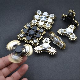 Wholesale Kid Gadgets - EDC Toys Fidget Spinner Gadget 4 GEAR Linkage Handspinner Fidget Toy Fidget Machine for Decompression Anti-anxiety Finger Gyro Toy DHL free