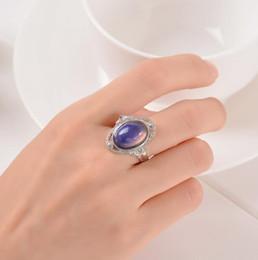 2019 anillos tibetanos de la joyería de la turquesa Vintage retro cambio de color anillo de estado de ánimo ovación Emoción sensación variable anillo de control de temperatura anillos de color para mujer