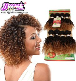 Wholesale Wet Wavy Ombre Weave - 8pcs pack for full head black Blonde Brazilian Kinky Curly virgin human hair water Weave Wet And Wavy Ombre jerry curly crochet Hair Bundles