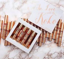 Wholesale Love Doll Sizes - Kylie Jenner Lip Kit Lipgloss Set Kylie in Love with the Koko Liquid Lipstick Bunny Baby Girl Doll Sugar Plum 4pcs Set