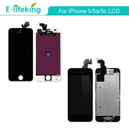 Wholesale Iphone Full Set - For iPhone 5 5S 5C LCD Display Touch Screen Digitizer Complete Assembly Replacement Full Set With Home Button AAA+Quality Free DHL Shipping