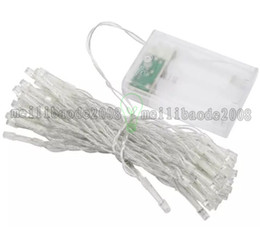 Wholesale Mode Battery - 2017 NEW 4M 40 LED Battery Operated Waterproof Christmas Wedding Fairy String Lights Steady ON  Flash  OFF 3 Mode 9 Color Options MYY