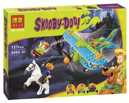Wholesale Wholesale Scooby Doo - Wholesale- 127 Pcs Scooby Doo Mystery Plane Adventures Momia Museo Misterio Plane Kits Figures Building Block 75901 10429