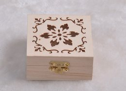 Wholesale Shipping Box Lid - New Arrival zakka Wood Small Box With Lid and Golden Lock Mini Cosmetic Jewerally Storage Box Wedding Table Gift Box Xmas free shipping