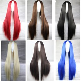 Wholesale Lace Front Red Cosplay Wig - women hair wigs cheaps straight lace front wig with middle part synthetic wigs heat resistant long wig cosplay Glueless Front lace wig