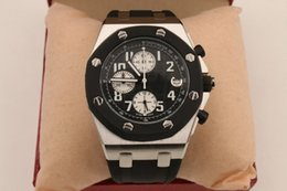 Wholesale Wristwatch China - China RUBBER belt 42mm silver case Chronograph luxury selling DATE High fashion Stainless steel brand new men watch wristwatch Mens watches