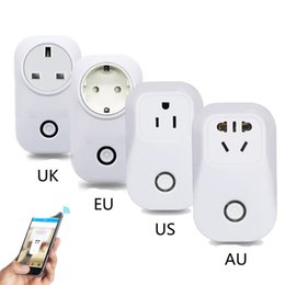 Wholesale Uk Power Standard - Sonoff S20 Wifi Wireless Remote Control Socket Smart Home Power Socket EU US UK Standard Via App Phone Smart Timer Home Plug