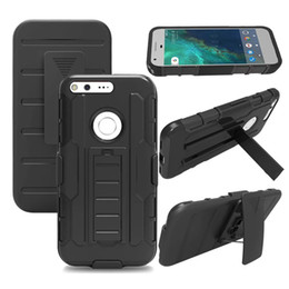 Wholesale Google Robots - For Google Pixel XL HTC one M10 ZTE Zmax Pro Z981 Xperia Z1 E4 M4 Z Combo Robot Heavy Duty Future Armor Kickstand Holster Belt Clip Case