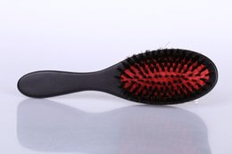 Wholesale Loop Extension Natural Hair - comb 1pcs pack health care styling barber brush set massager 100% natural wild boar bristle Hair Extension loop comb