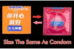 Wholesale Cleaning Sexy - Funny Condom Shape Wet Tissue Clean Skin&dating Fashion party Funny Sexy gift Toy Young Gift Creative Artifact trick tool