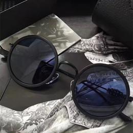 occhiali da sole rotondi steampunk Sconti Luxury Vintage Cromato Occhiali da sole Uomo Brand Designer Steampunk Style Croce Logo Round Frame Retro New York Designer Vieni con custodia originale