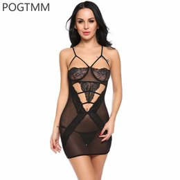Wholesale Open Dress Erotic - Woman Sexy Hot Lingery Erotic Baby Doll Dress Night Transparent Lace Bra Open Sleepwear Nightwear Lady Sex Negligee Porn Clothes