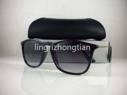 Wholesale 52mm Uv - 1Pcs High Quality Mens Womens UV Protection Fashion Sunglasses Designer Brand Sun Glasses CHRIS sunglasses Black 52mm Lens With Box Case