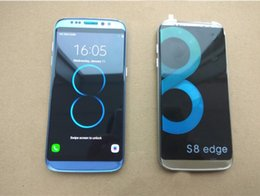Wholesale newest goophone - Newest Goophone S8 Edge Quad Core MTK6580 Android Smartphone 1GB RAM 4GB ROM 5.5 Inch 1280*720 HD 8MP 3G Cell Phones