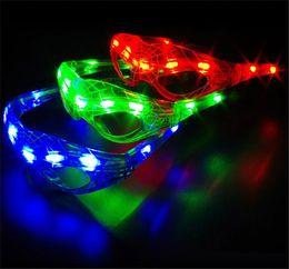 Wholesale Novelty Led Glasses - Hot Spiderman LED Light Flashing Glasses Gift Cheer Dance Mask Christmas Halloween Days Gift Novelty LED Glasses Led Rave Toy Party Glasses