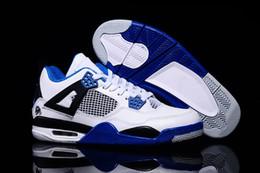 stilvolle schuhe für männer Rabatt Herren 4 4s Basketball Schuhe Sneakers New Stylish MotorSports Blau Cement Toro Bravo CAVS Thunder Dunk von oben Schuhe für Männer