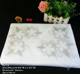 Wholesale Wholesale Appliques For Shirts - 30pcs lot Hotfix Rhinestones Iron On Heat Transfers Sticker Motif Flower Applique For T-shirt Cashmere