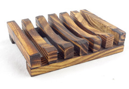 Wholesale Wholesale Soap Boxes - Vintage Wooden Soap Dish Plate Tray Holder Box Case Shower Hand washing DHl Free Shipping LLFA