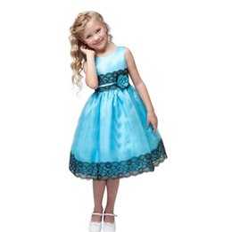 Wholesale Bohemian Formal Dress Lace - Princess Girls Party Dress Summer Girl Clothes Sleeveless Silk Girl Lace Dresses Flower Girls Princess Dress