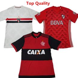 Ropa de fútbol Flamenco Home Soccer Jerseys Club Atletico River Plate Vestido de fútbol Sao Paulo home camisetas de futbol Camisas de campeones desde fabricantes