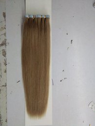 Wholesale Tape Hair Extensions Lengths - Grade 10A--Double Thickness 100% Human Brazilian Hair Skin Weft Tape in Hair Extension, Length 12''--24'',2.5g per pc&100g per lot, Free DHL