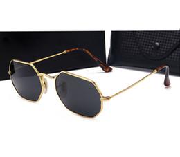 Wholesale Round Style Glasses For Men - Metal Sunglasses Retro Style Sunglass for Men Women Soscar Brand Designer Sun glasses Flash Mirror Lenses oculos de sol with box and cases