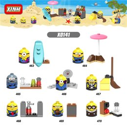Wholesale Despicable Minion New - 8pcs lot 2017 New Minions Despicable Me Cartoon Anime Building Blocks Bricks Children Toys Gifts X0141