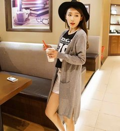 Wholesale Computer Sale Lowest Price - Wholesale-2016 Spring sales Fashion High Quality Cashmere Long Cardigan Women V-Neck New Design Genuine Goods Lowest Price Free Shipping