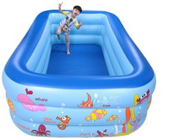 Wholesale Inflatable Swim Set - Thickening Baby Swimming Pool Children Pool Inflatable Pool Adult Swimming Pool Bathing Pool Ocean Pond Pool