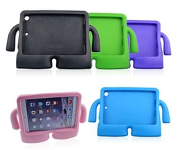 Wholesale Kid Ipad Case Cover - 3D Cute portable kids Safe Foam ShockProof EVA Case Shockproof Handle Cover Stand For iPad New 2017 2 3 4 air 2 Mini 4 case