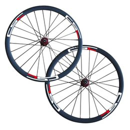 Wholesale Carbon Road Bike Wheels 25mm - Disc brake carbon 38mm clincher wheel 25mm width with Novatec D771SB D772SB hub thru axle or standard QR Road Bike Wheelset