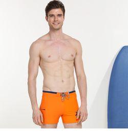 Wholesale Xxl Men S Swimwear - 2017 new men's beach pants flat wide waist comfortable swimsuit sexy swim up the code swimwear hot springs men's swim trunks short running