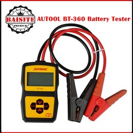 Wholesale 12v Battery Analyzer Tester - Original AUTOOL BT360 Car Battery Tester 12V Digital Analyzer 2000CCA 220AH Multi-Languages BAD Cell Test Car Tools free shipping