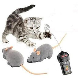 Wholesale Pet Rats - 3 Colors Remote Control Electronic Wireless Rat Mouse Cat Pet Gift Funny Toy Mourse Ears Random CCA6852 50pcs