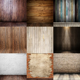 Wholesale Baby Vintage Photography - wholesale custom 5x7FT brick wall vintage wood backdrops studio camera digital vinyl photography background backdrop for baby photos props
