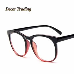 Wholesale Plain Eye Glasses For Men - Wholesale- 2015 fashion brand big glass frame square eye glasses frames for women and men plain glass eyewear frames oculos de grau 2293